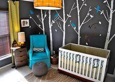 Estilo en el cuarto de tu bebe pintado de color gris habitacionbebe5