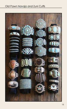 I would love to have these.......native american bracelets
