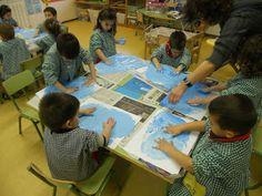 7Ciències: A P3 axperimentem amb l' Hivern: es pot pintar amb gel?, es pot fer neu?