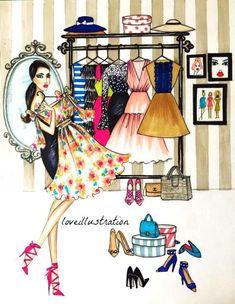 Fashion Artwork, Fashion Wall Art, Paper Fashion, Barbie Fashion Sketches, Fashion Clipart, Fashion Illustration Dresses, Vide Dressing, Clothing Logo, Sewing Art