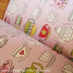 Pages from Pretty Patterns Colouring Book illustrated by designer Beth Gunnell and published by Buster.