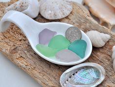 5 Beautiful Sea Glass Pieces Rare Colours by BeachBountySeaGlass