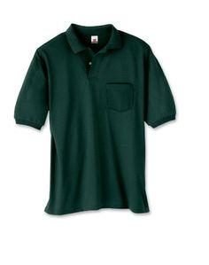 Hanes 054P 5.5 oz 50/50 Jersey Pocket Polo (bestseller)