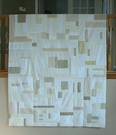 Oatmeal Quilt from Crazy Mom Quilts - just bought a fat quarter bundle of oatmeal solids