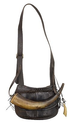 "Powder Horn and Leather Hunting Pouch. Simply love this. So very ""Hunger Games"""