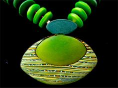 New Earth Craft works, polymer pendant