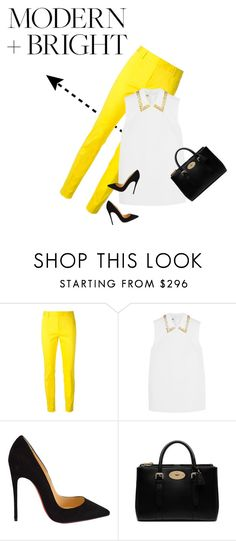 """""""Around the Corner"""" by prilsplace ❤ liked on Polyvore featuring Dsquared2, Miu Miu, Christian Louboutin and Mulberry"""