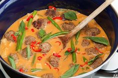 Carolines blog: Thaise gehaktballetjes curry