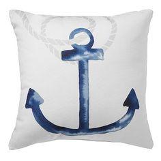 West Elm anchor pillow