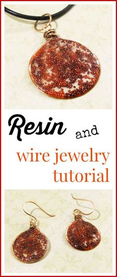 Resin and wire jewelry tutorial; use the wire as a frame, and use a doming resin. Cool.