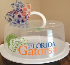 Personalized Cake Carrier- Florida Gators Personalized Cake Carrier - TDY Designs