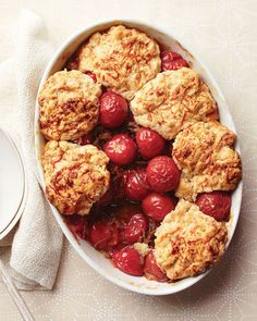 Savory Tomato Cobbler with Gruyere Biscuit Topping