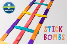 Made from woven popsicle sticks, stick bombs are powered by tension. You create the tension by weaving the sticks together. When released, the sticks fly up into the air! Science Fair, Teaching Science, Science For Kids, Stem Projects, Science Projects, Science Activities, Activities For Kids, Science Ideas, Craft Stick Crafts