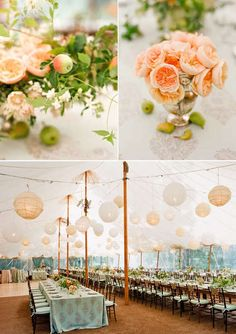 Snippet & Ink has been the go-to wedding planning resource for sophisticated brides who dream of a unique and meaningful wedding day. Tent Wedding, Wedding Table, Our Wedding, Wedding Receptions, Reception Ideas, Wedding Colors, Wedding Styles, Wedding Flowers, Orange Wedding