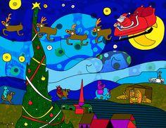 Santa Starry Night from-http://www.toonpool.com/cartoons/Starry%20Night_154415