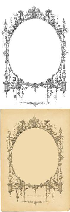 *The Graphics Fairy LLC*: Vintage Ephemera Image - Amazing Frame Vintage Labels, Vintage Ephemera, Vintage Paper, Vintage Frames, Vintage Prints, Decoupage, Paper Art, Paper Crafts, Theme Harry Potter