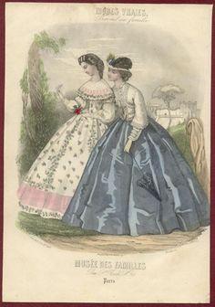 2 Original Musee Des Familles Hand Colored Prints 1863 | eBay