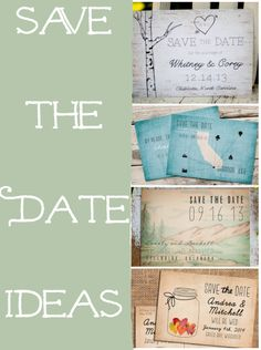 Great Save The Date Ideas For A Rustic Or Country Style Wedding!