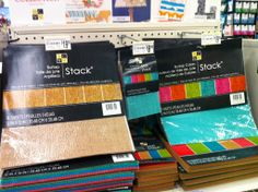 New at Michaels:  Studio G, Recollections, DCWV, and Ribbon {burlap paper, epoxy alphas, mini clipboards, decorated clothespins, and more / SBO} www.ScrapbookObsessionBlog.com
