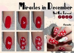 #Exo Miracles In December Nail Art Tutorial
