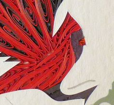 Quilled Cardinal | QuillingbySandraWhite - Housewares on ArtFire