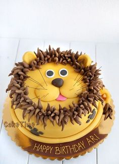 Tort Lew - My best shares Jungle Birthday Cakes, Jungle Cake, Animal Birthday, Birthday Cake Girls, Lion Birthday Party, Flower Birthday, Lion Cakes, Birthday Cake Decorating, Creative Cakes
