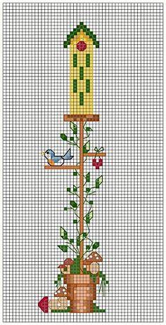 November Birdhouse · Cross-Stitch | CraftGossip.com