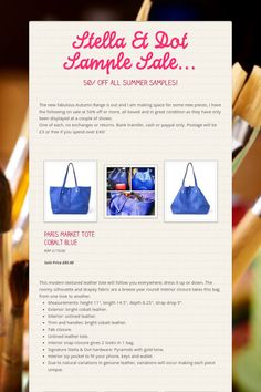 Stella & Dot Sample Sale...