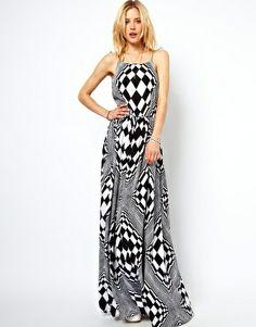 ASOS Maxi Dress In Optical Art Print !!!