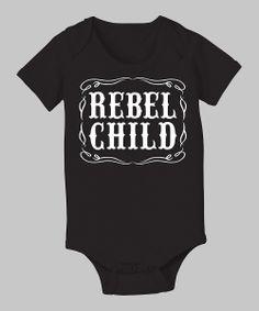 Black 'Rebel Child' Bodysuit - Infant | Daily deals for moms, babies and kids