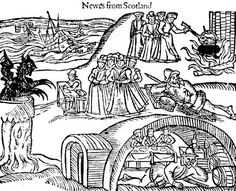 In 1590, James set up his own tribunal to investigate accusations of witchcraft in the town of North Berwick, near Edinburgh. By 1592, the tribunal had tortured and put on trial approximately 70 suspected witches, including some Scottish nobles.   Many were burned at the stake, including Agnes Sampson, an elderly and respectable woman who denied, while under severe torture, that she was a witch