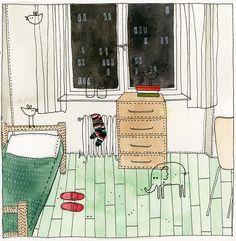 Yelena Bryksenkova. My room.