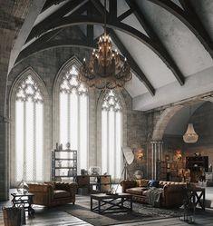 Modern Gothic Home Decor . Modern Gothic Home Decor . More Modern Gothic Gothic Interior, Gothic Home Decor, Home Interior Design, Interior Architecture, Victorian Gothic Decor, French Gothic Architecture, Interior Office, French Interior, Victorian Homes