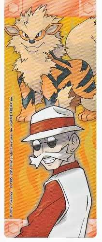 Pokemon Center 2012 Kanto Leaders Tournament Arcanine Blaine Bookmark