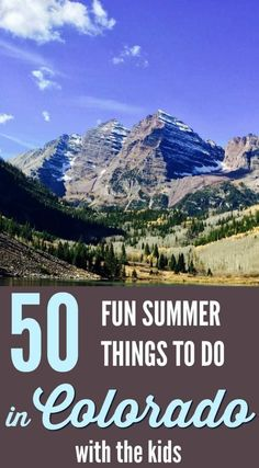 50 Fun Summer Things to Do in Colorado with the Kids - Vacation Vail Colorado, Road Trip To Colorado, Breckenridge Colorado, Colorado In The Summer, Colorado Springs, Colorado Mountains, Denver Colorado, Colorado Vacations, Colorado Winter