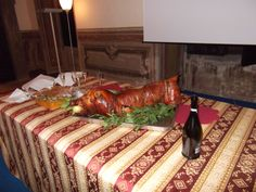 This was part of a banquet in a castle in Italy. Vegetarians, please look away!
