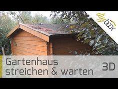 Gartenhaus streichen & warten Anleitung @ diybook.de