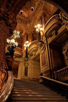 Staircase, The Opera House, Paris, France foto por raquel Baroque Architecture, Beautiful Architecture, Beautiful Buildings, Architecture Design, Beautiful Places, Opera House Architecture, Architecture Board, Japanese Architecture, Ancient Architecture