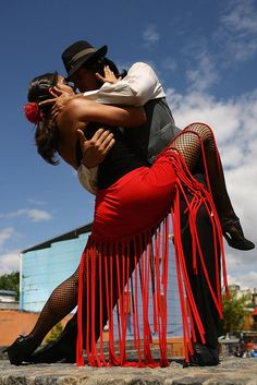 Tango in the streets of Buenos Aires, Argentina.