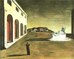 Melancholy of a Beautiful Day, Giorgio de Chirico, Metaphysical art. Italian Painters, Italian Artist, Magritte, Max Ernst, Painting Gallery, Arte Popular, Traditional Paintings, Art Moderne, Henri Matisse