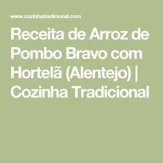 Receita de Arroz de Pombo Bravo com Hortelã (Alentejo) | Cozinha Tradicional