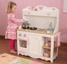 Our range of children's wooden play kitchen toys and pretend wooden toy kitchen sets and shops is huge. Play toy kitchens from the best manufacturers so you can find the ideal choice to amaze and entertain your kids. Play Kitchen Sets, Kitchen Utensil Set, Play Kitchens, Toddler Kitchen Set, Pink Wooden Kitchen, Toy Cooker, Modern Country Kitchens, Kitchen Sale, Wood Toys