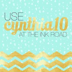 If you've been eyeing something sweet why not buy it at a sweet price? Get 10% off your purchase using CYNTHIA10 at theinkroad.com