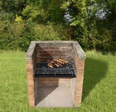 garten gestalten gemauerter grill bauen