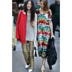 Paris Fashion Week Street Style Spring 2013 ❤ liked on Polyvore