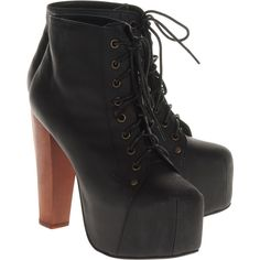 Jeffrey Campbell Lita Black Platform Ankle Boots I FREAKING NEED THESE!!