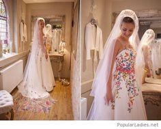 Colorful wedding dress design