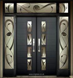 House Main Door Design, Wooden Front Door Design, Home Door Design, Double Door Design, Door Gate Design, Door Design Interior, Wooden Doors, Wood Front Doors, Modern Entrance Door