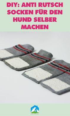 DIY: Anti Rutsch Socken für den Hund selber machen! Jetzt im #Haustier #Notfallkarte #Hunde #Blog