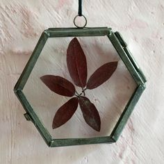 """Tuck a favorite photo or garden specimen into this metal and glass frame ornament for a personalized addition to the tree.- Metal, glass- Wipe clean with damp cloth- Indoor use only- Imported2.5""""H, 2.5""""W, 0.25""""D"""